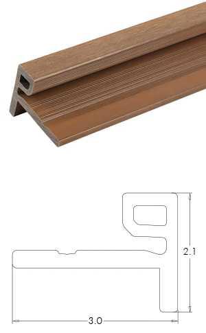塑木格柵牆板收邊條-UH50