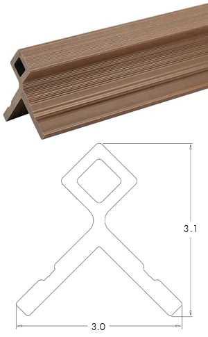 塑木格柵牆板收邊條-UH51