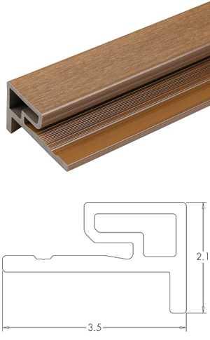 塑木格柵牆板收邊條-UH59