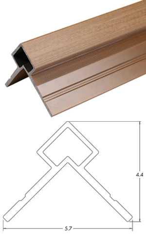 塑木格柵牆板收邊條-UH60