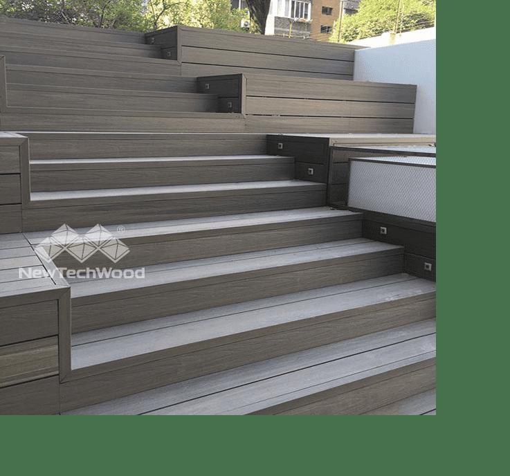 美新塑木階梯