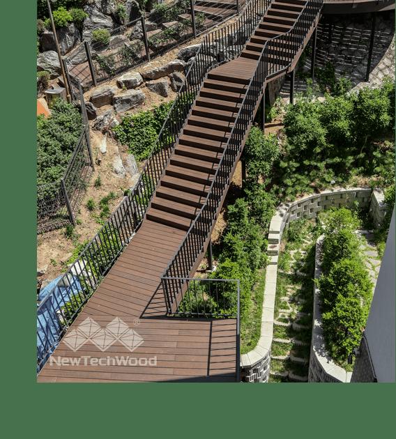 美新塑木樓梯
