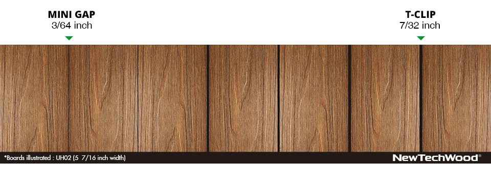美新塑木地板卡扣縫隙圖