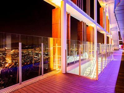 美新塑木地板案例夜景