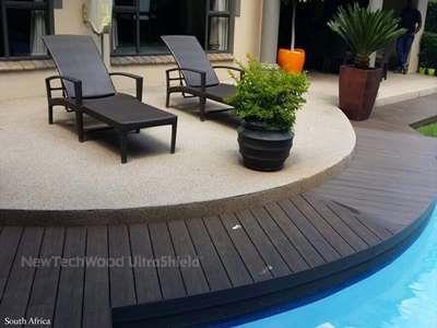 美新塑木弧形地板案例