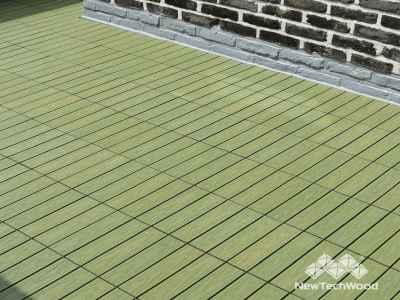 美新塑木快組地板-春綠色