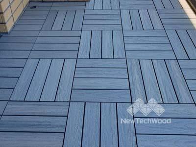 美新塑木-淺灰組合地板