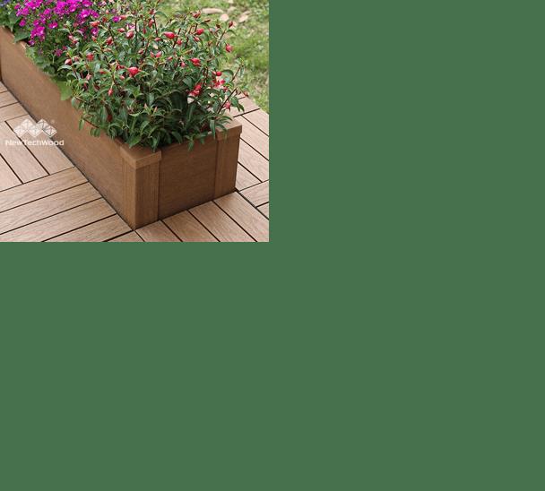 美新塑木-組合花箱