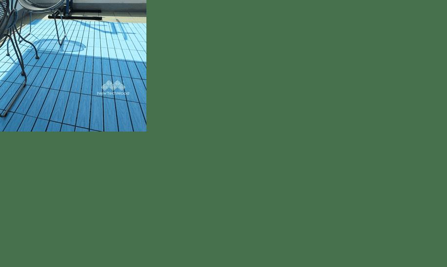 美新塑木快組地板-天空藍