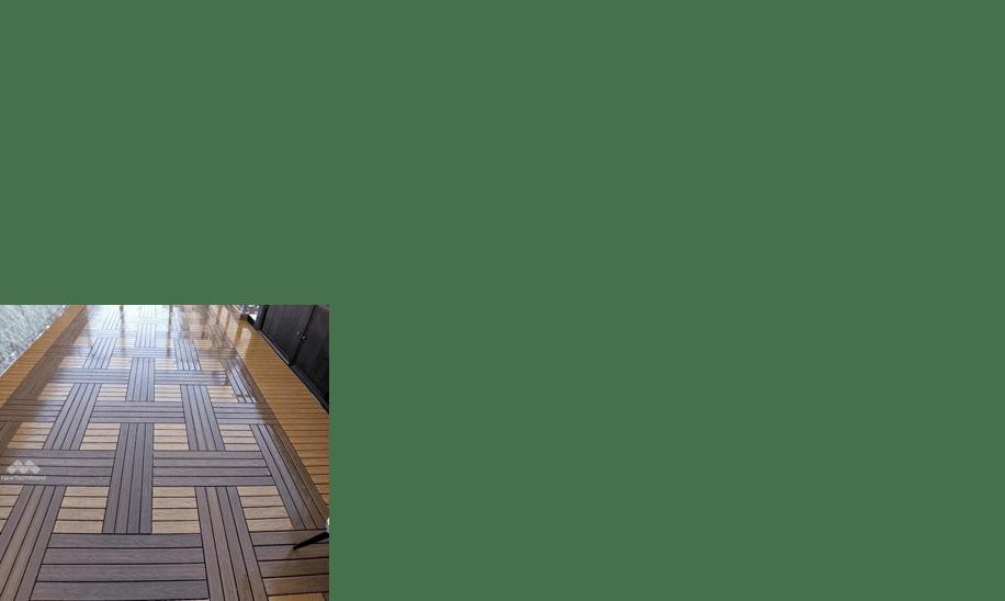 美新塑木快組地板-編織拼法