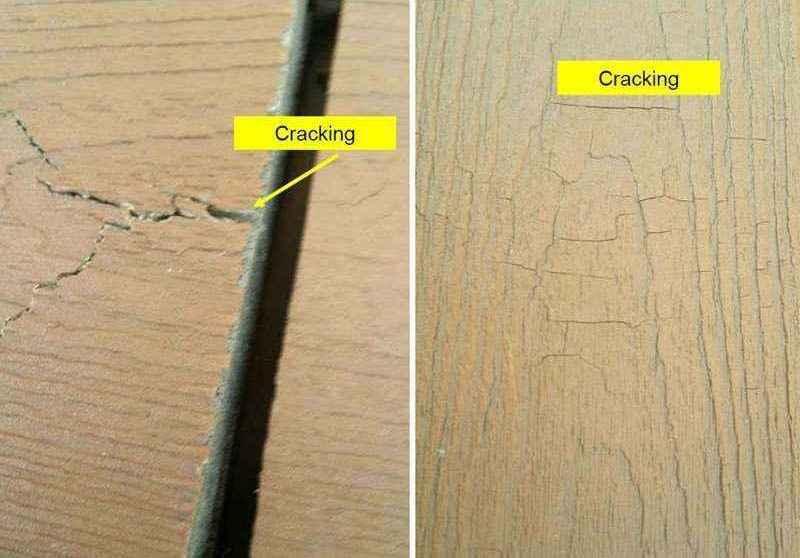 塑木的裂痕
